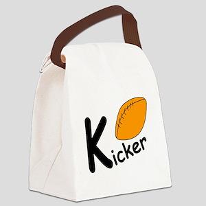 Football Kicker Canvas Lunch Bag
