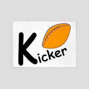 Football Kicker 5'x7'Area Rug