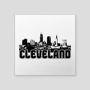 "Cleveland Skyline Square Sticker 3"" X 3"""