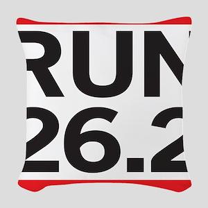 Run 26.2 Woven Throw Pillow