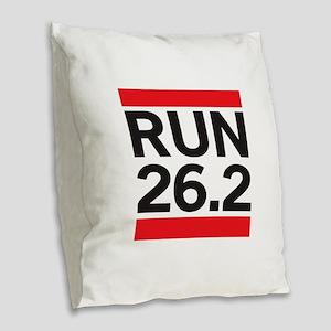 Run 26.2 Burlap Throw Pillow