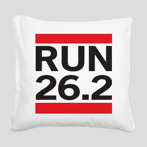 Run 26.2 Square Canvas Pillow
