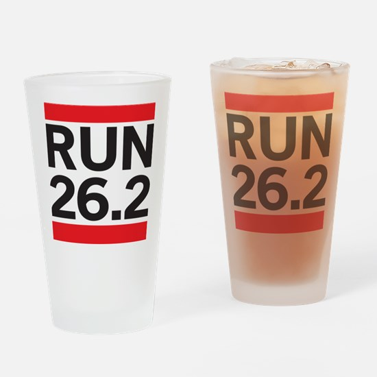 Run 26.2 Drinking Glass