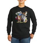 Cats Gone Wild Long Sleeve Dark T-Shirt