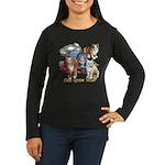 Cats Gone Wild Women's Long Sleeve Dark T-Shirt
