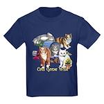 Cats Gone Wild Kids Dark T-Shirt