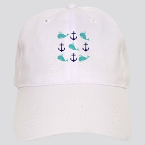 Whales and Anchors Baseball Cap