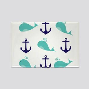 Whales and Anchors Magnets