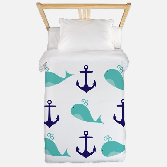 Whales and Anchors Twin Duvet