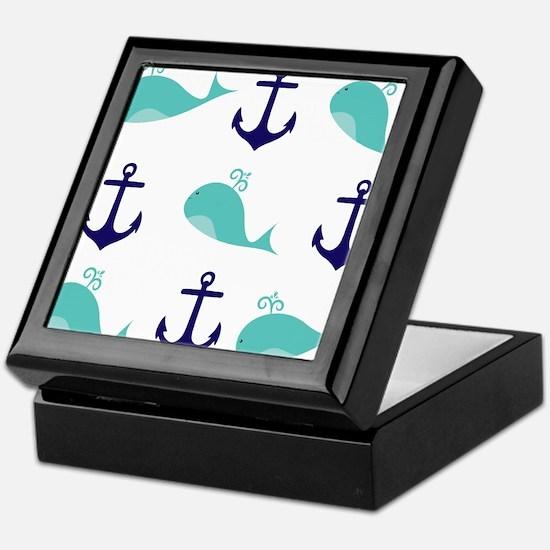 Whales and Anchors Keepsake Box