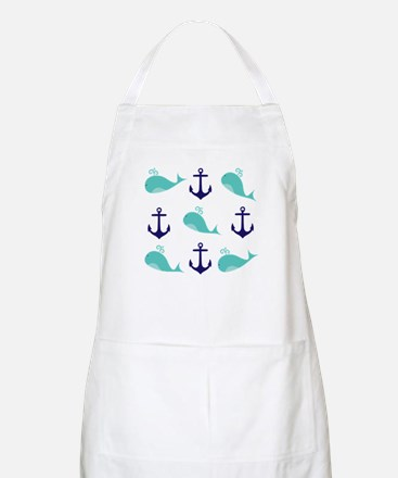 Whales and Anchors Apron