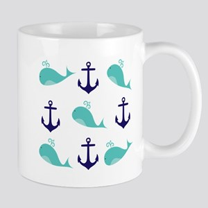 Whales and Anchors Mugs