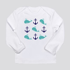Whales and Anchors Long Sleeve T-Shirt