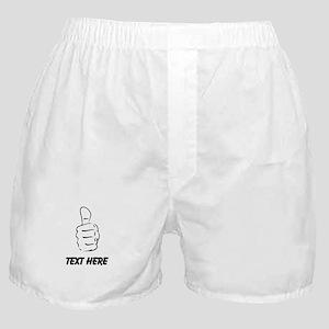 Custom Thumbs Up Boxer Shorts