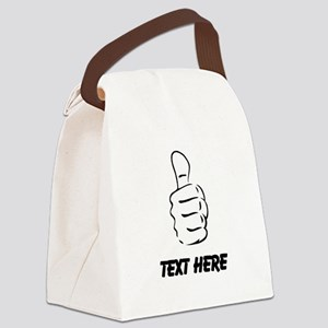 Custom Thumbs Up Canvas Lunch Bag