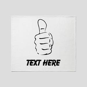 Custom Thumbs Up Throw Blanket