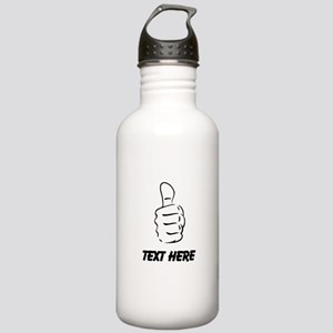Custom Thumbs Up Water Bottle