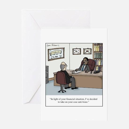 Anti-Bono Lawyer Greeting Card