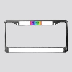 Pray for Me License Plate Frame