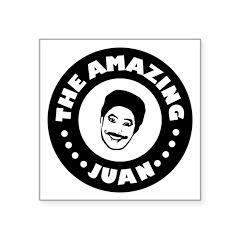 The Amazing Juan - Black Circle Design Sticker