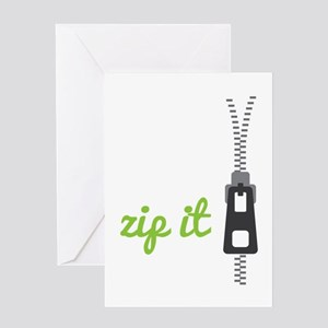 Zip It Greeting Cards