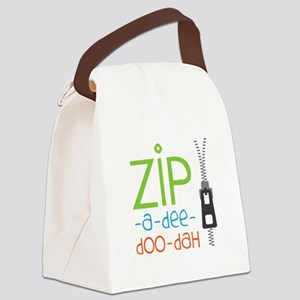 Zipper Zip Canvas Lunch Bag