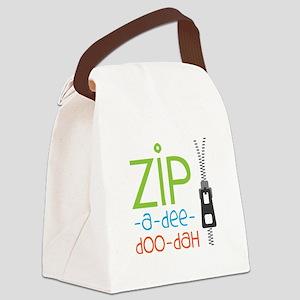 Zipper Zip Canvas Lunch Bag