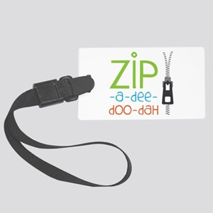 Zipper Zip Luggage Tag