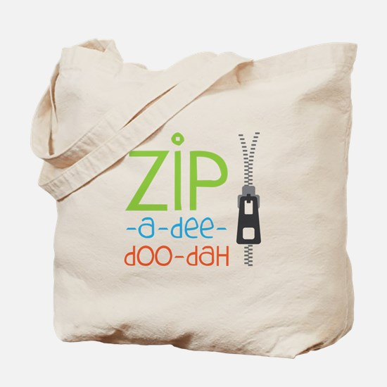 Zipper Zip Tote Bag