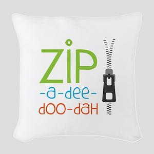 Zipper Zip Woven Throw Pillow
