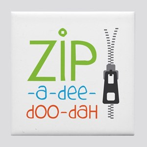 Zipper Zip Tile Coaster