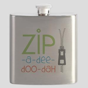 Zipper Zip Flask