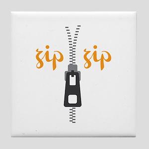 Zip Zip Tile Coaster
