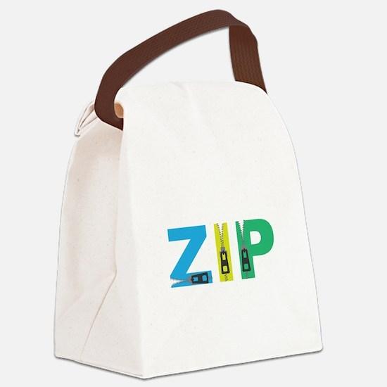 Zip Canvas Lunch Bag