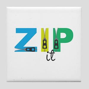 Zip It Tile Coaster