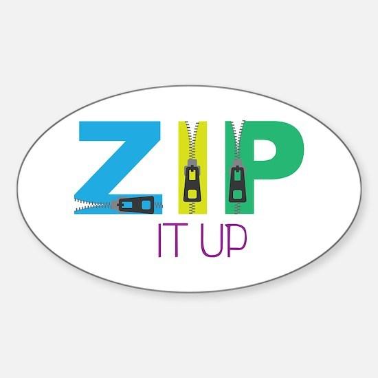 Zip It Up Decal