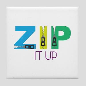 Zip It Up Tile Coaster