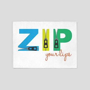 Zip Your Lips 5'x7'Area Rug