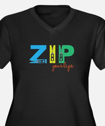 Zip Your Lips Plus Size T-Shirt
