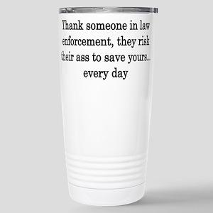 Thank law enforcement - Light colors Travel Mug
