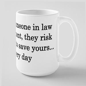 Thank law enforcement - Light colors Mugs