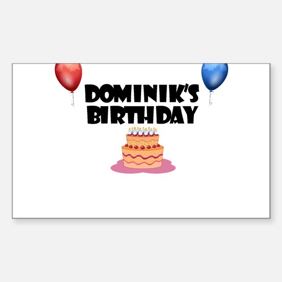Dominik's Birthday Rectangle Decal