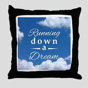 Running Down a Dream Throw Pillow