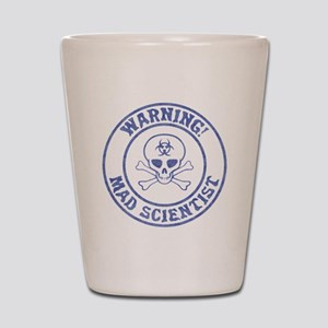 Mad Scientist Warning Shot Glass
