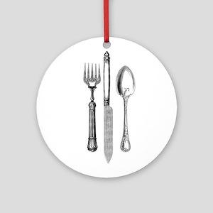 Vintage Cutlery Ornament (Round)