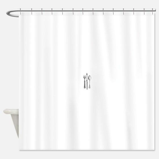 Vintage Cutlery Shower Curtain