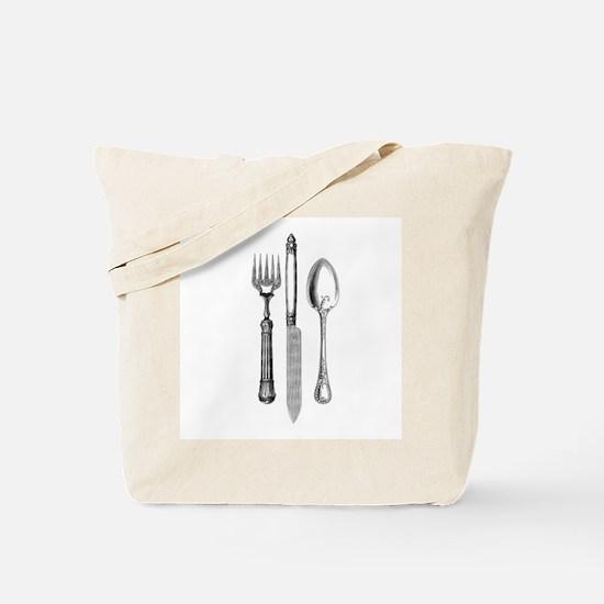 Vintage Cutlery Tote Bag