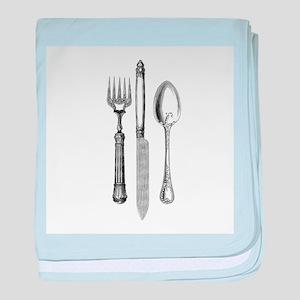 Vintage Cutlery baby blanket