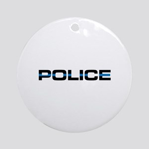 Police Ornament (Round)
