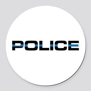 Police Round Car Magnet